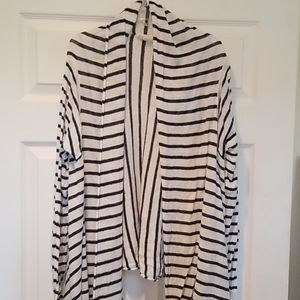 Pure DKNY linen striped open cardigan